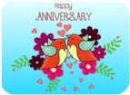 Happy Anniversary - love birds