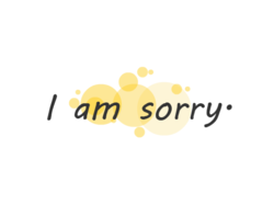 Ever Wondered How Sorry Looks Like